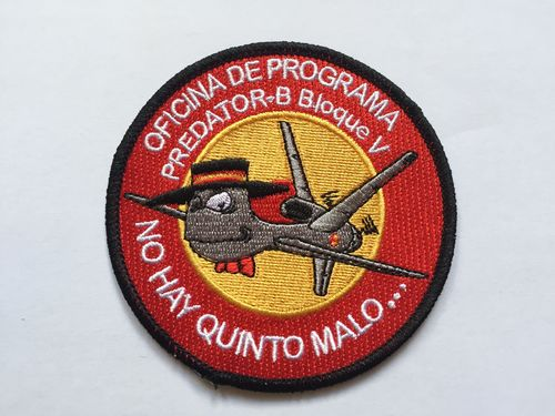 Embroidered patch Predator Office Spain.
