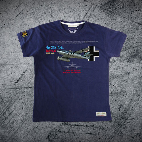 Outlet Size XXL navy blue Me-262 Luftwaffe T-shirt