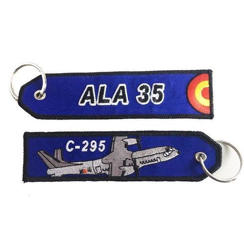 35th wing C-295 blue Key Chain