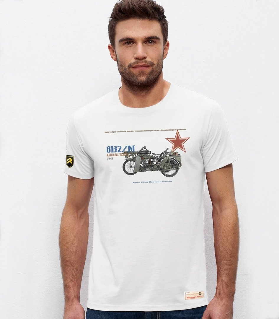 Camiseta militar Russian Motorcycle 8B2/Matchless-Vickers