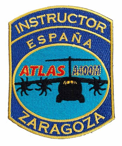 Parche bordado con velcro Ala 31 A-400 INSTRUCTOR